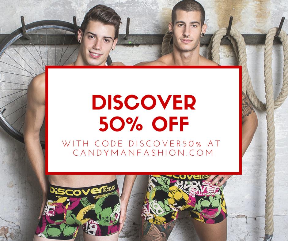 Save 50% on Discover Underwear