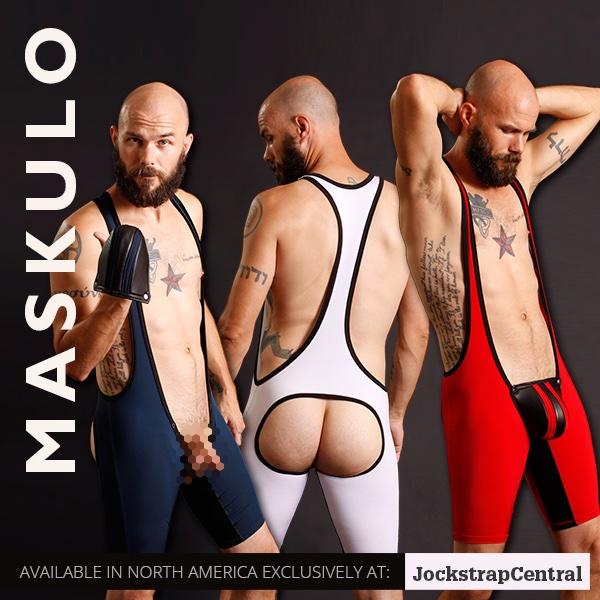 Jockstrap Central Maskulo Open Back Wrestling Singlets