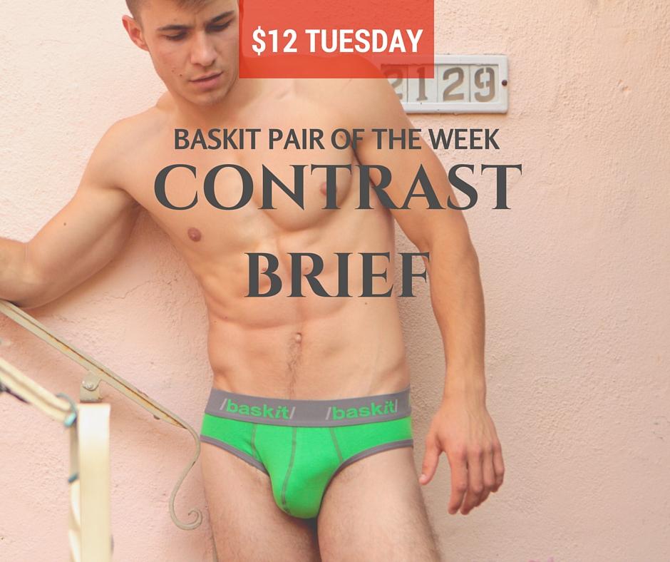 Baskit $12 Tuesday Contrast Brief