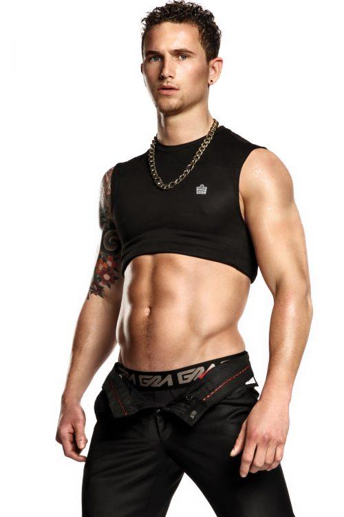 Photography by martijn smouter for Garcon Model underwear - black brief1