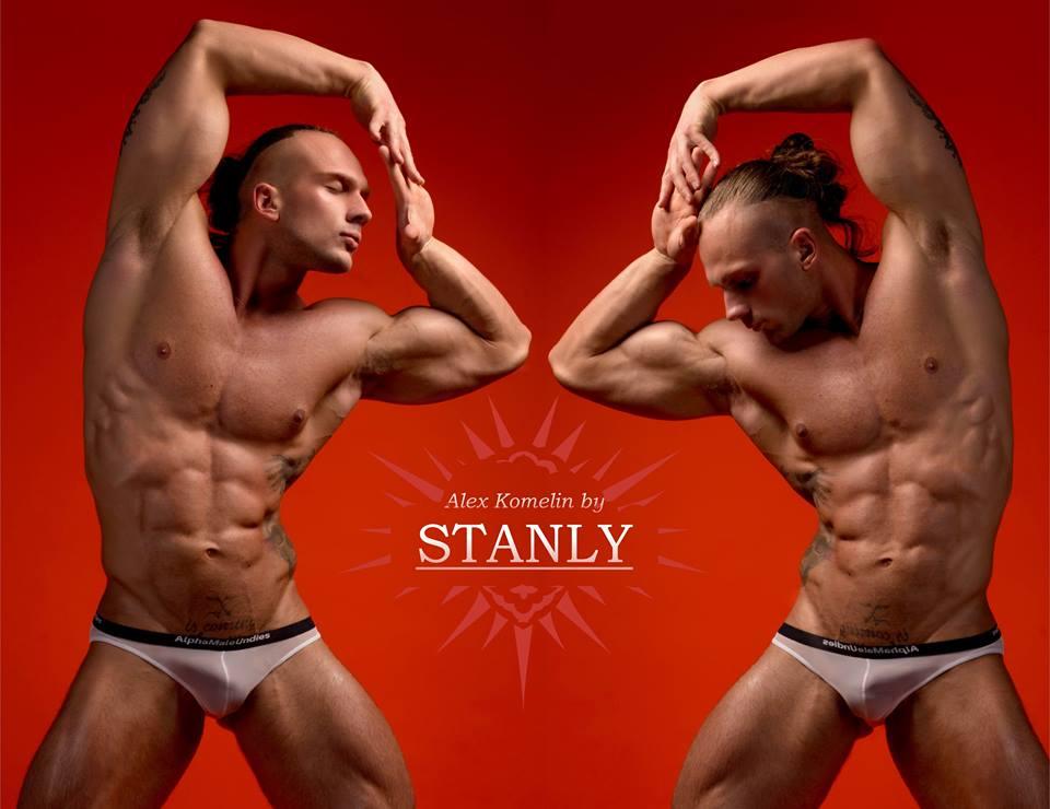Model Aleksander Komelin wearing AMU photographer STANLY