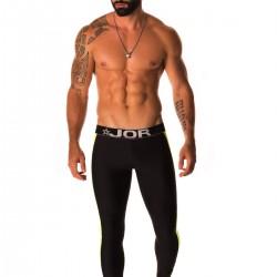 Review JOR Workoutwear Logo Black T-Shirt and Runner Black Long Pants