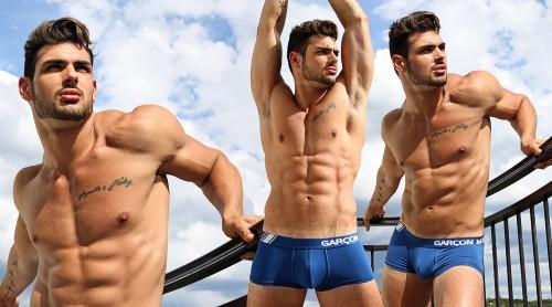 Photographer Karim Konrad with model Romain wearing Garcon Model underwear 2