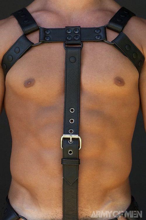 Bulldog-cockstrap-black-model-front