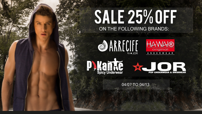 Save 25% off JOR, Hawai and Pikante