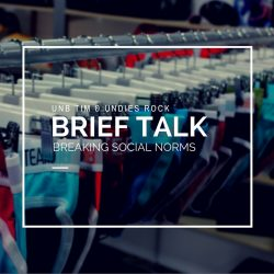 Brief Talk breaking social norms for comfort and fashion
