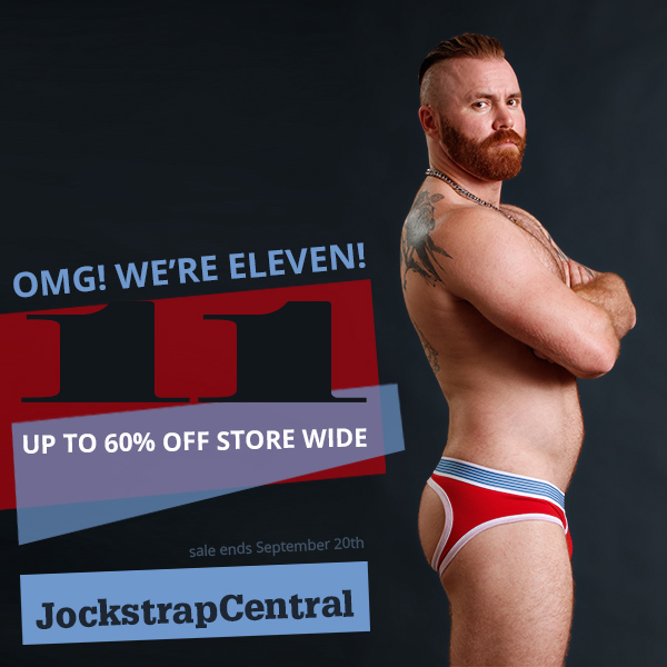 Jockstrap Central turns 11 with a HUGE Sale