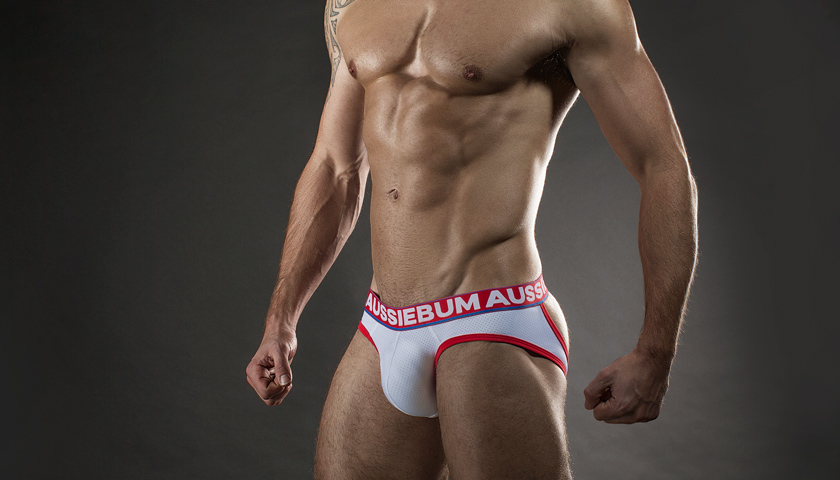 Men's clothing l poss gay interest box menswear underwear jockstrap peach size large badvocates
