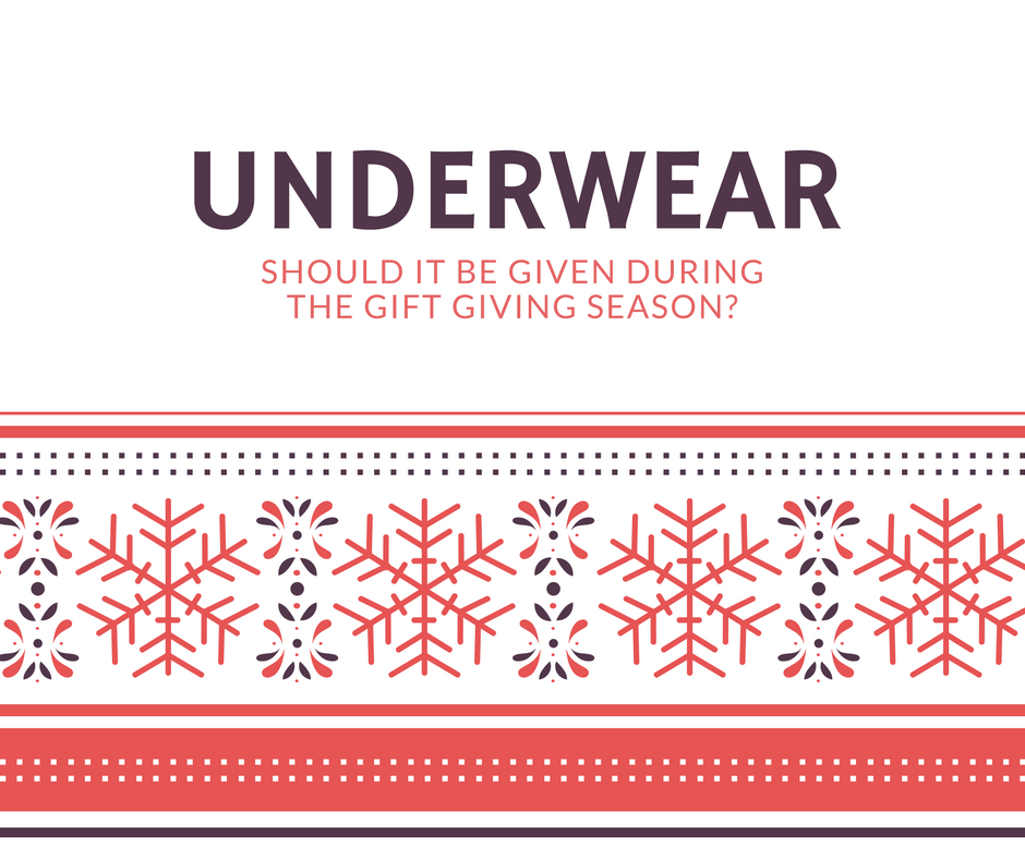Poll - Do you want to give or be given underwear this Holiday season
