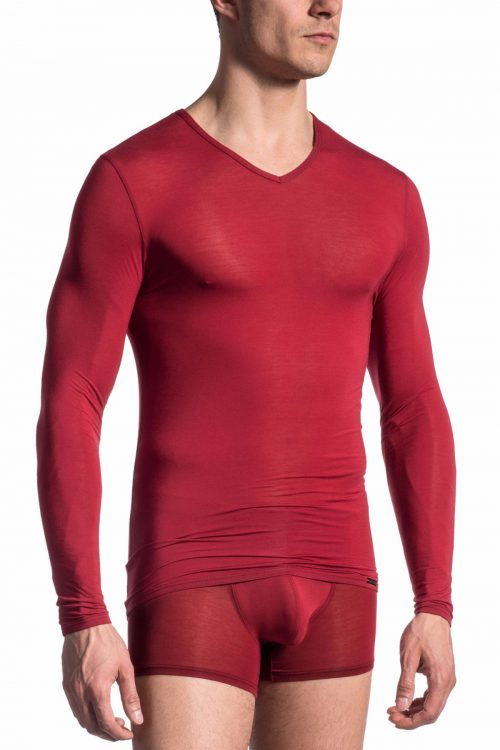 olaf-benz-red-1665-long-sleeved-shirt-cardinal-front