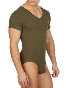 BodyAware V-Neck Ribbed Bodysuit