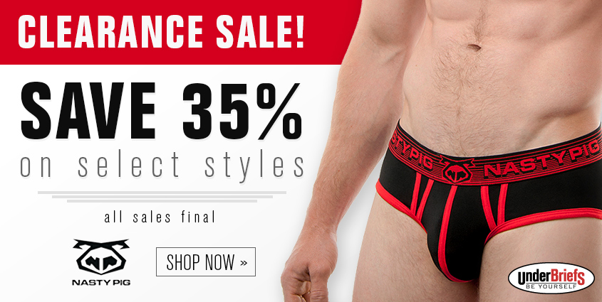 Nasty Pig Clearance Sale at UnderBriefs
