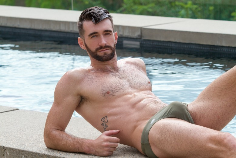 Garcon Model Getting Hot for Summer with Woody Fox