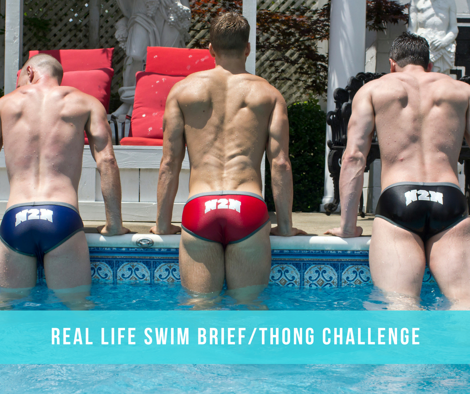 Real Life Swim Brief/Thong Challenge by UNB