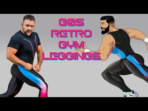 New LED Queens 80s Retro Gym Fashion Leggings