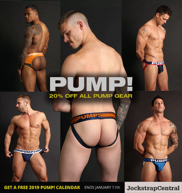 PUMP! Sale and Calendar Giveaway at Jockstrap Central Extended