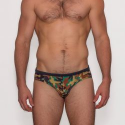 Relax in M Wear Dick Camo Swim Brief