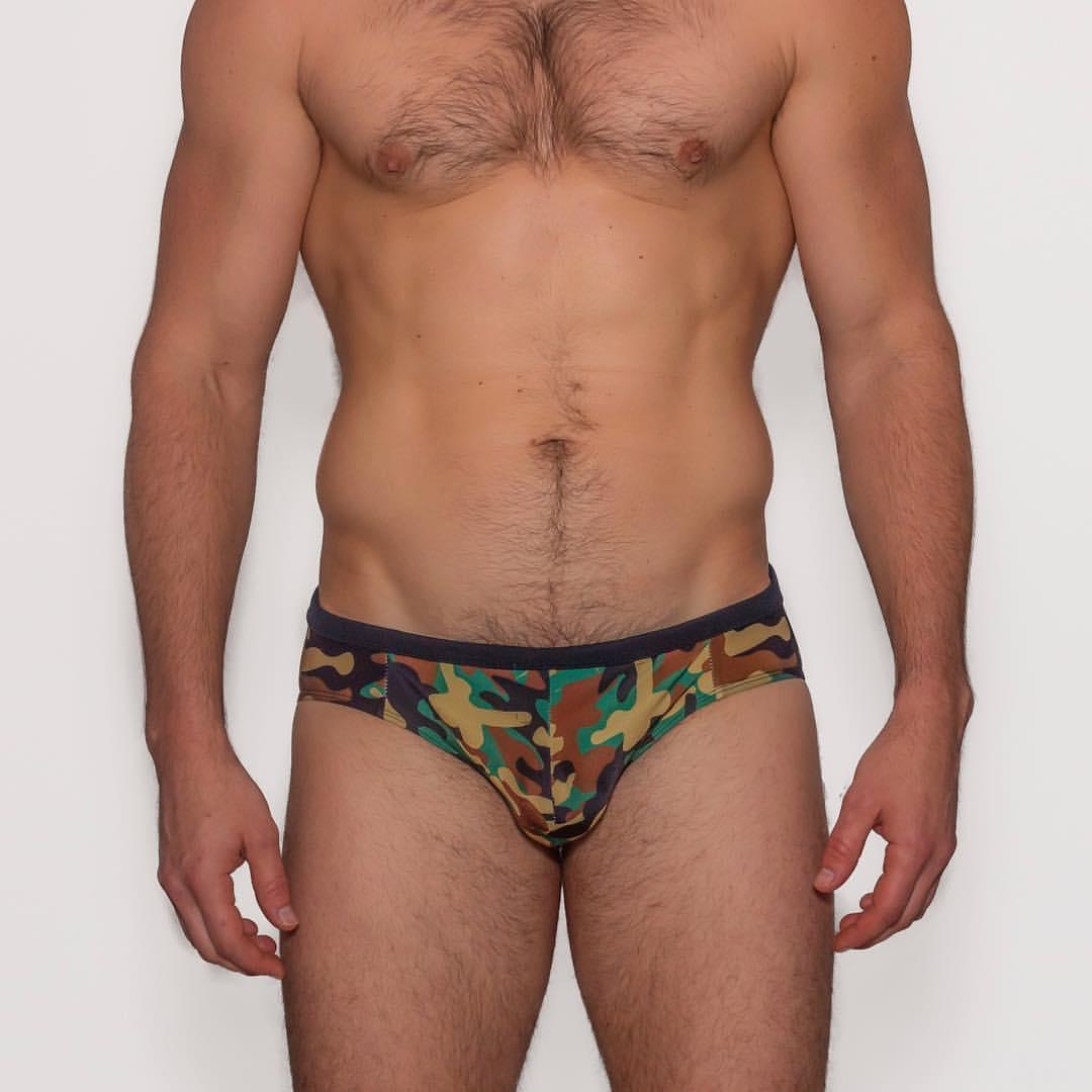 Relax in M Wear Dick Camo Swim Brief