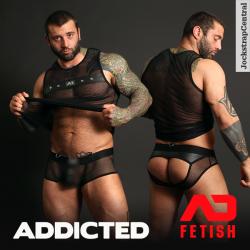 Addicted Fetish Mesh Open Back Briefs, Trunks plus Tank Tops
