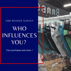 UNB Reader Survey Results – Who Influences your purcahses