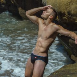 Hunk2 – We put Oklahoma boy Alex E in his first ever bikini swimwear