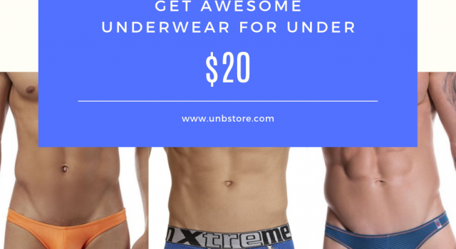 Get undies under $20 at UNB Store