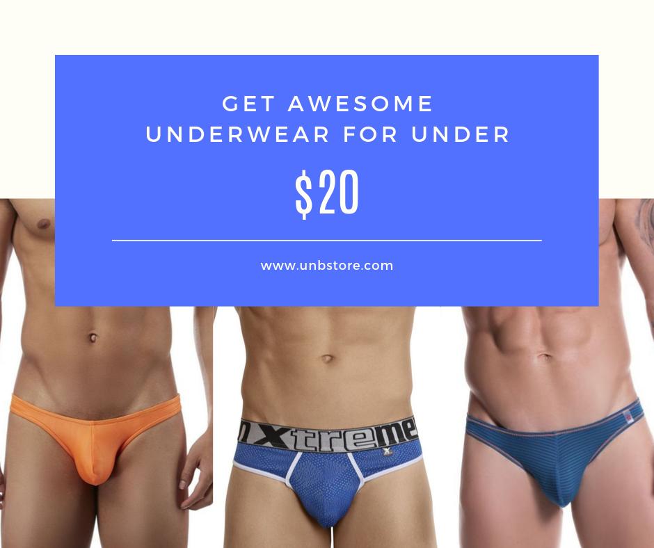 Get undies under $20 at UNB Store