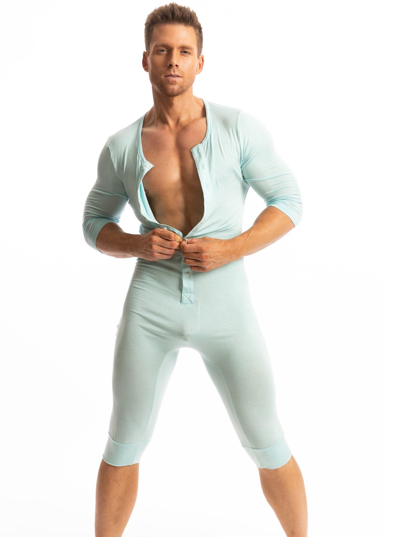 Stay warm in N2N Bodywear's Ice Onesie