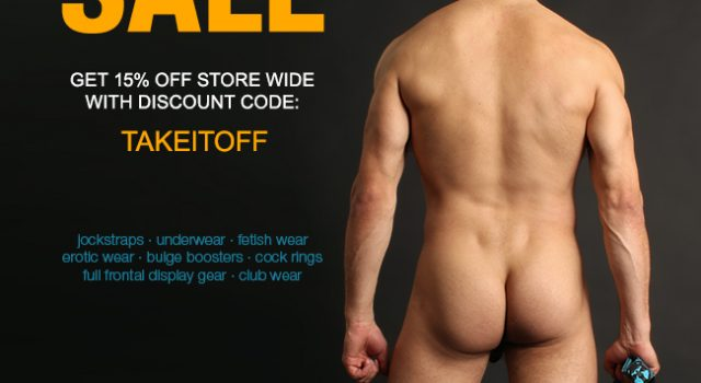 Take It Off Sale at Jockstrap Central