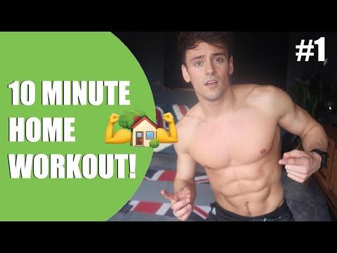 10 Minute Home Workout! | #DaleyWorkout Ep1 I Tom Daley