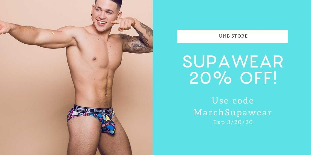Save 20% on Supawear at UNB Store