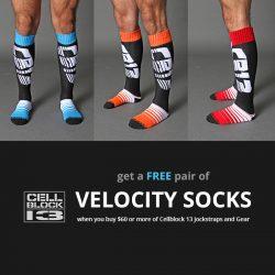 Free Cellblock 13 Socks Giveaway plus McKillop Jockstrap and Shorts