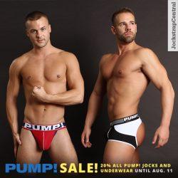 PUMP! Jockstrap and Underwear Sale – 20% Off