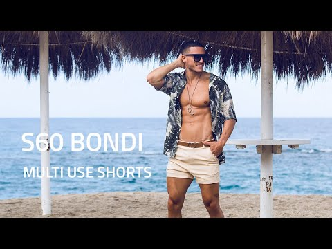 2EROS Bondi Shorts - Sand and Aqua