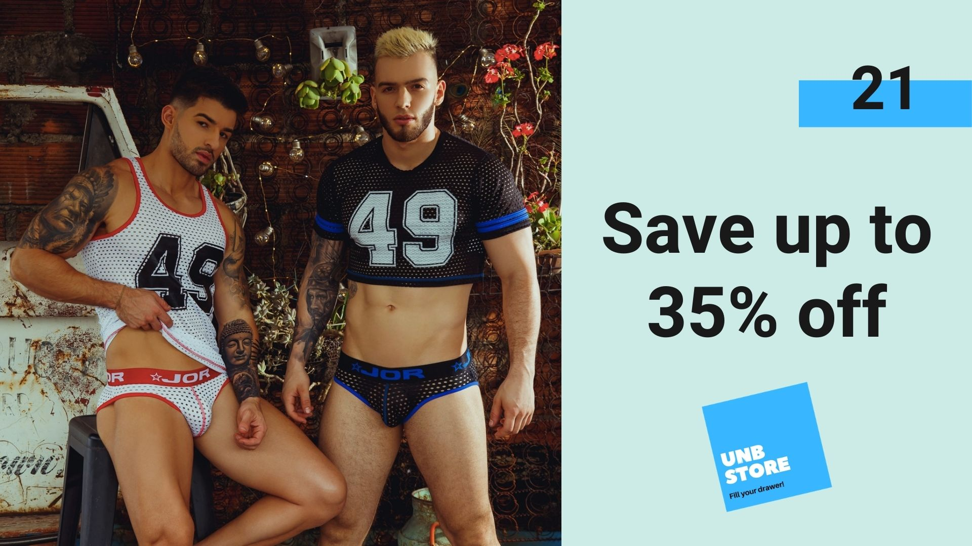 Save up to 35% off JOR and more at the UNB Store