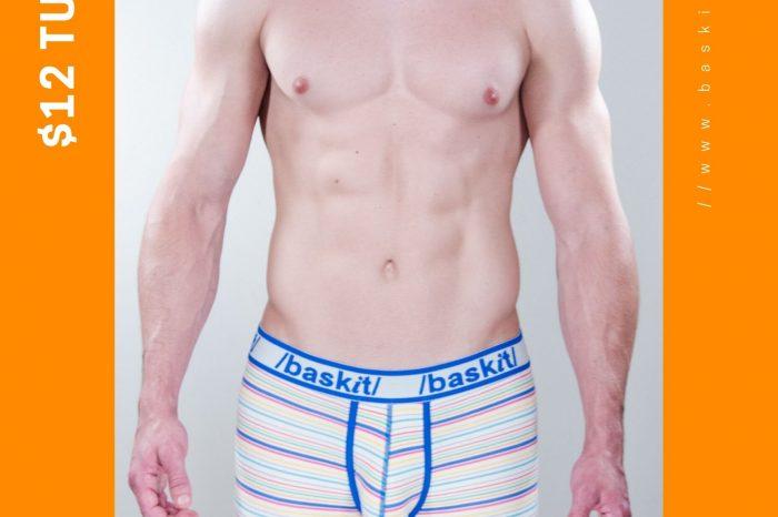 Baskit $12 Tuesday - Wild Stripes Boxer Briefs
