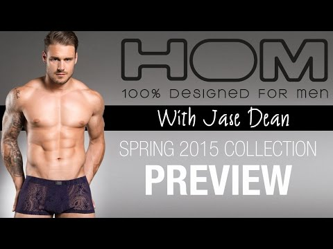 HOM underwear & Swimwear Spring 2015 Preview with Jase